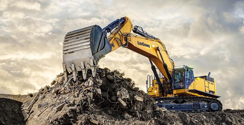 Новый 95-тонный экскаватор LiuGong для сверхтяжелых работ